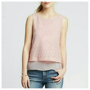 BR Lace Overlay Tank, NWT